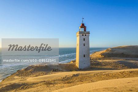 Lighthouse and Dunes, Rubjerg Knude, Lokken, North Jutland, Denmark
