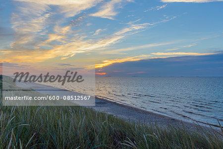Beach at Sunrise, Bunken, Aalbaek Bay, Baltic Sea, North Jutland, Denmark