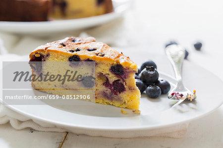 Blueberry and orange cake