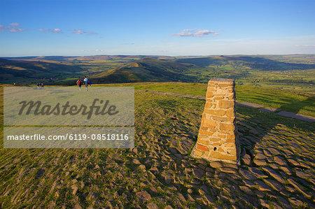 View from Mam Tor Hollins Cross, Derbyshire, England, United Kingdom, Europe