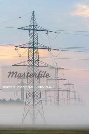 Electricity Pylons, Hesse, Germany