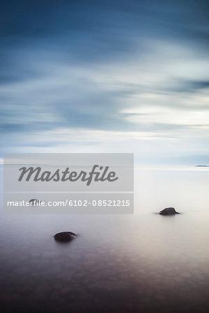 Rocks in calm sea