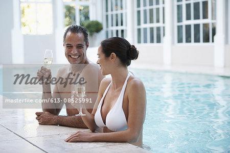 Celebrating at the pool