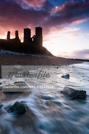 Sunset at Reculver Tower, Kent, England, United Kingdom, Europe