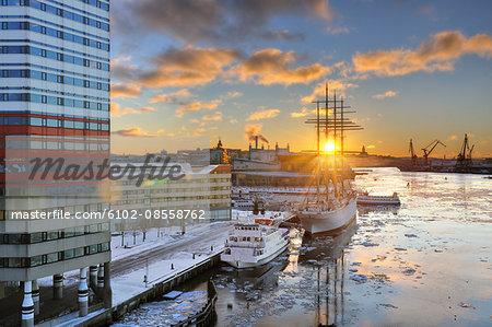 Sunset, Gothenburg, Sweden.