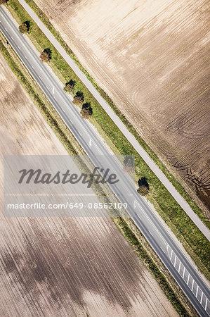 Aerial view of field, Welzow, Brandenburg, Germany