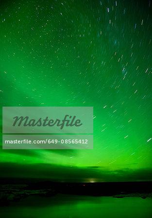 Northern lights, Jokulsarlon, Iceland