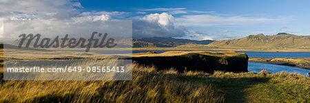 Panoramic landscape, Dyrholaey, Iceland