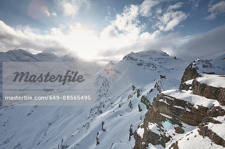 Sun over Schilthorn, Murren, Bernese Oberland, Switzerland