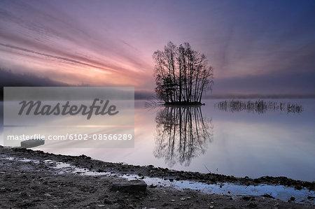 Lake at morning light