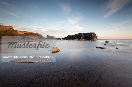 Saltwick Nab, Saltwick Bay, sunrise, Yorkshire, England, United Kingdom, Europe