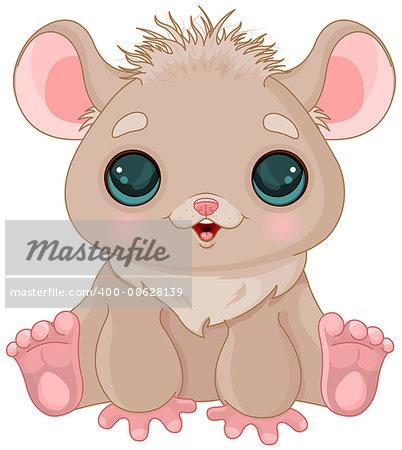 Illustration of very cute hamster