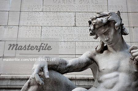USS Maine Monument, Columbus Circle, Manhattan, New York City, USA
