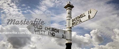 Old Signpost, Southwest England, UK