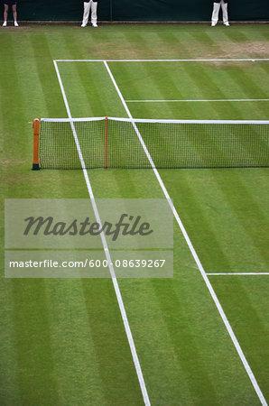Overview of Tennis Court, Wimbledon, England, UK