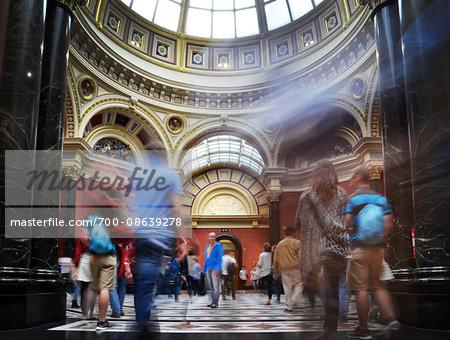 Interior of National Gallery, London, England, UK