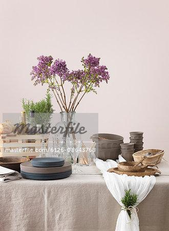 Sweden, Vastergotland, Elegant table setting