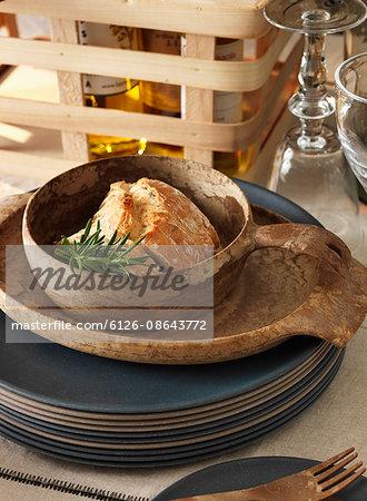 Sweden, Vastergotland, Meat with herbs in bowl