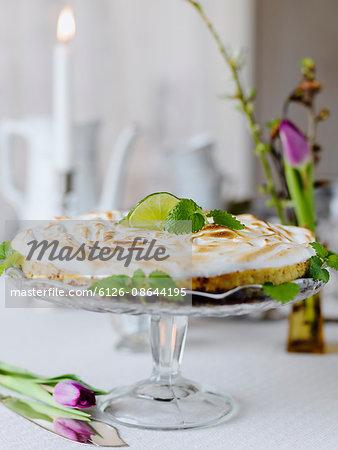Sweden, Keylime pie on cakestand