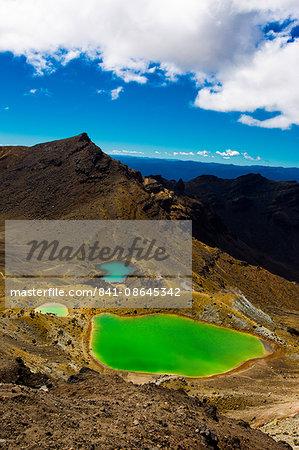 The Emerald Lakes, Tongariro National Park, UNESCO World Heritage Site, North Island, New Zealand, Pacific