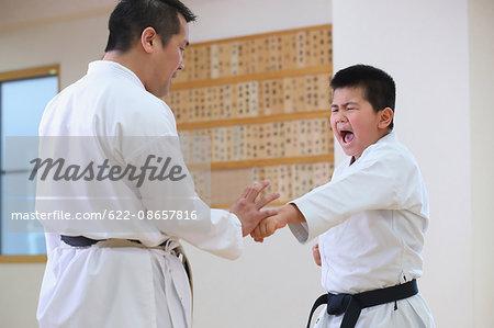 Japanese kids karate class