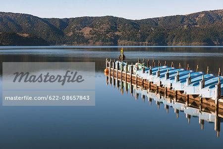 Lake Ashi in the Winter morning, Hakone, Japan