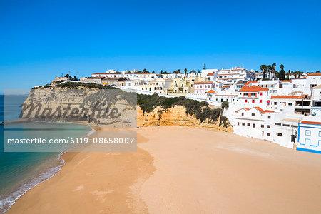 Carvoeiro and Beach, Algarve, Portugal, Europe