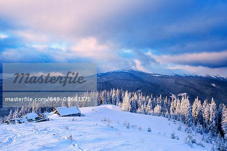 Chorna Tysa Mountain Village, Carpathian Mountains, Ivano-Frankovsk Region, Ukraine
