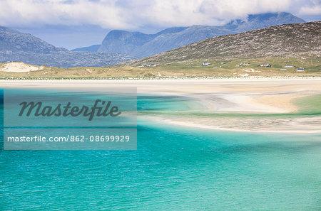 Scotland, Western Isles, Isle of Harris. Luskentyre Bay.