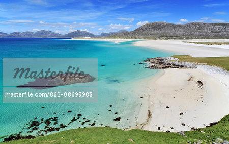 Scotland, Western Isles, Isle of Harris. Luskentyre Bay viewed from Seilebost.