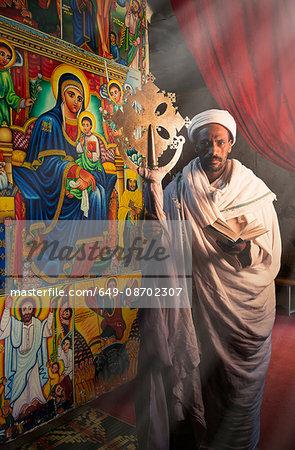 Priest in an Orthodox Monastery, Lalibela, Ethiopia