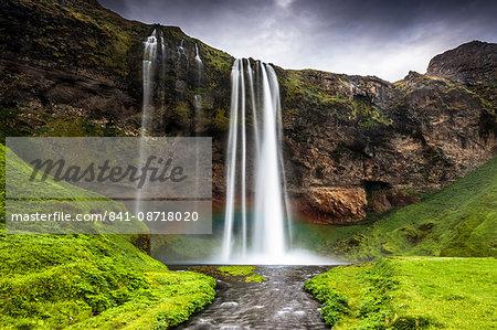 Seljalandsfoss waterfall, South Region, Iceland, Polar Regions