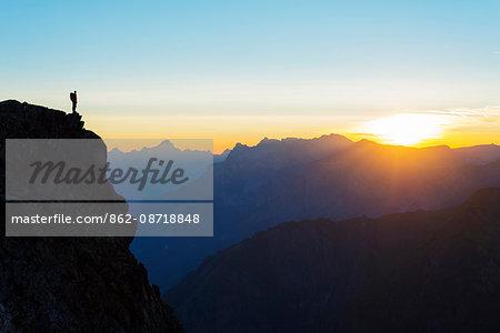 Europe, France, Haute Savoie, Rhone Alps, Chamonix, Brevant landscape