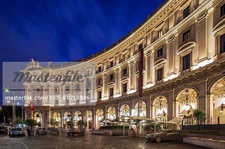The Boscolo Exedra 5 star luxury hotel in Piazza della Repubblica, Trevi, Bagni di Tivol, Lazio, Rome.