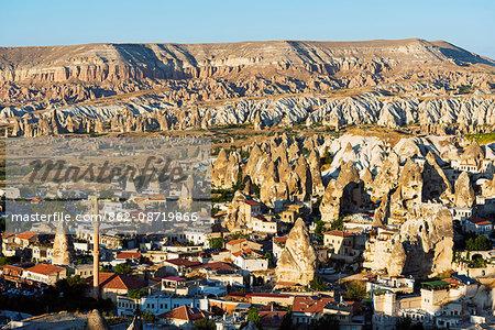 Turkey, Central Anatolia, Cappadocia, landscape at Goreme, Unesco World Heritage site