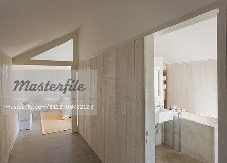 Home showcase bathroom and corridor