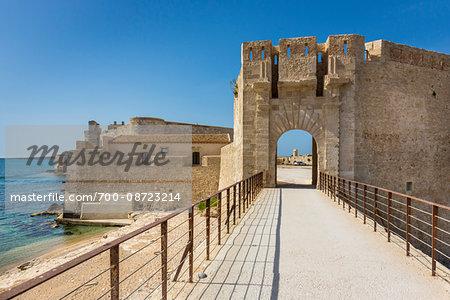 Castello Maniace on Ortygia, Syracuse, Sicily, Italy