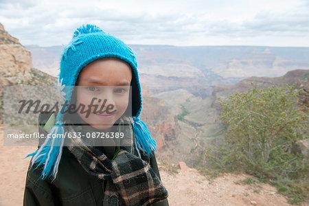 Boy at the Grand Canyon, Arizona, USA