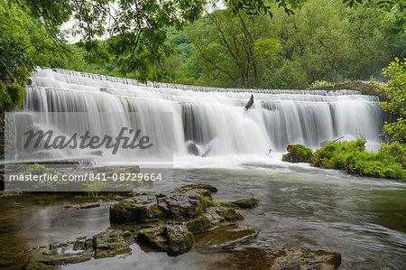 Monsal Weir in Monsal Head Valley, Peak District National Park, Derbyshire, England, United Kingdom, Europe