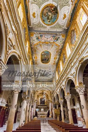 Interior of Matera Cathedral in Sassi, Matera, Basilicata, Italy