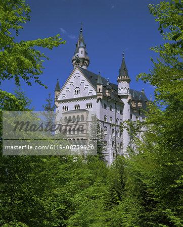 Royal castle, Neuschwanstein, Bavaria, Germany, Europe