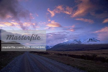 Country road, Rakaia Gorge, South Island, New Zealand, Pacific