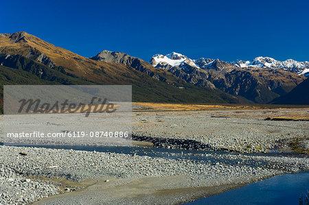 Waimakariri Valley, Arthur's Pass, Southern Alps, Canterbury, South Island, New Zealand, Pacific