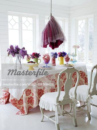 Scandinavia, Sweden, Stockholm, View of dining room