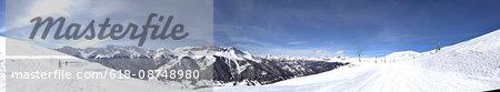 Panoramic Shot Of Snowcapped Mountains Ski station