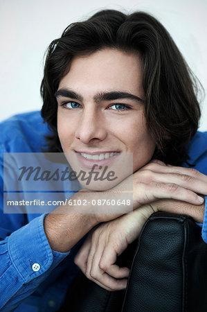 Portrait of smiling teenage boy