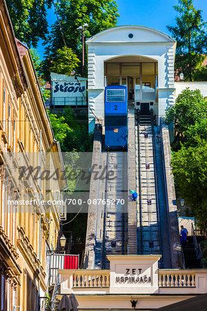 Zagreb Funicular to the Upper Town, Zagreb, Croatia