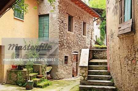 Italy, Veneto, Castelletto di Brenzone at Garda Lake
