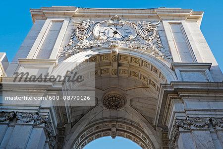 Arco da Rua Augusta at Praca Do Comercio, Lisbon, Portugal
