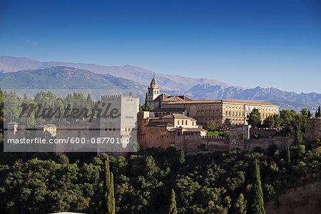 Alhambra in Granada, Andalucia, Spain
